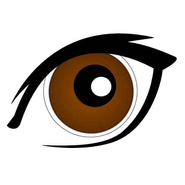 Brown Eyes Clipart - Eye Clip Art (600x600)