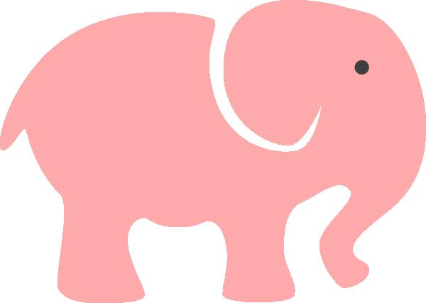 Elephant Clipart Baby Shower - Grey Baby Shower Elephant (600x427)