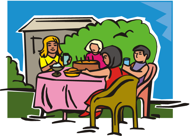 Table Eating Dining Room Dinner Clip Art People Eating At Table