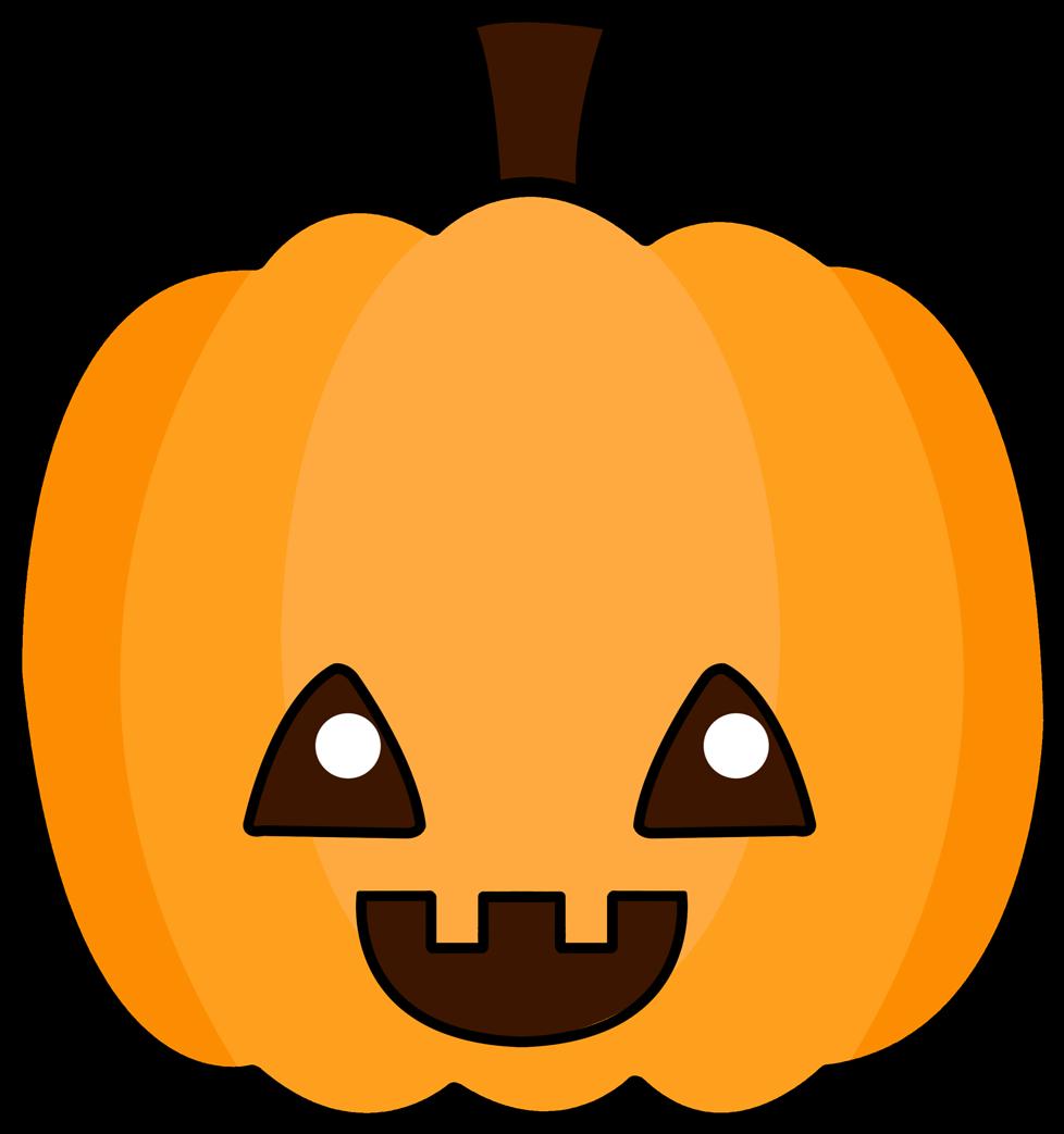 Cute Pumpkin Clipart - Cute Cartoon Jack O Lantern (1147x1127)