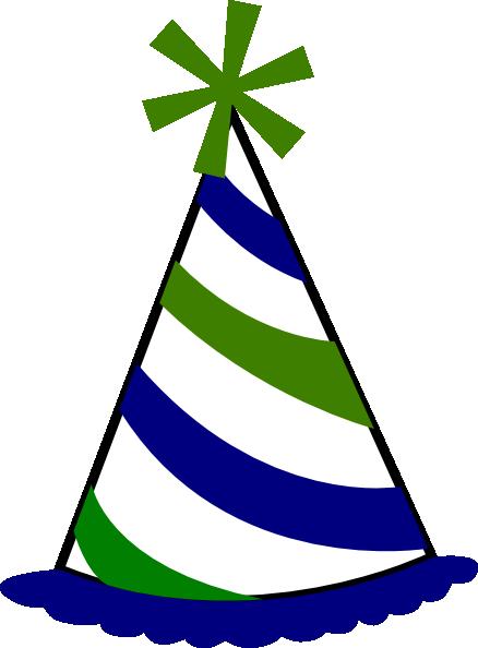 Birthday Hat Clip Art At Vector Clip Art Online - Birthday Hat Transparent Background (438x594)