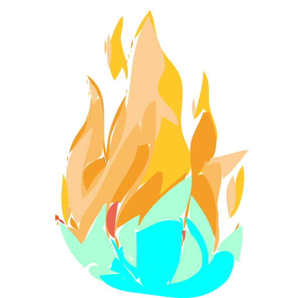 Clip Art Fire And Ice (600x593)