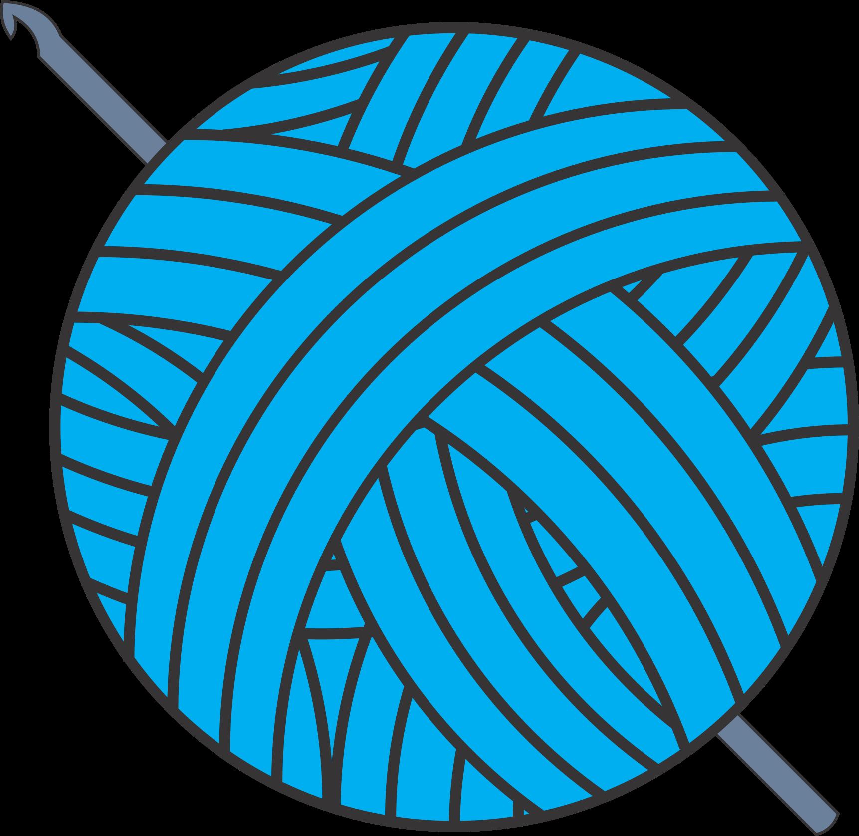 Clip Art Ball Of Yarn Clipart Clipground - Clip Art Yarn (1722x1675)