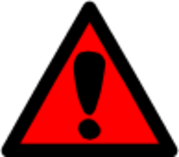 Attention Clip Art The Cliparts - Clip Art Hazard Sign (600x526)