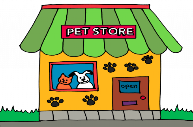 Clipart Ope - - Clip Art Pet Store (640x420)