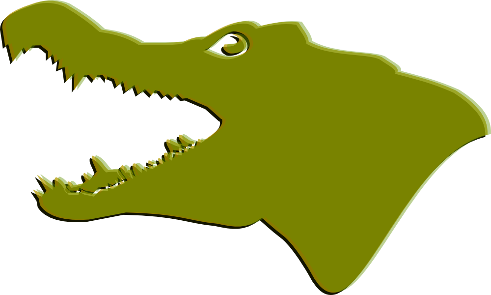 Images Of An Alligator - Crocodile Head Clip Art (1000x600)