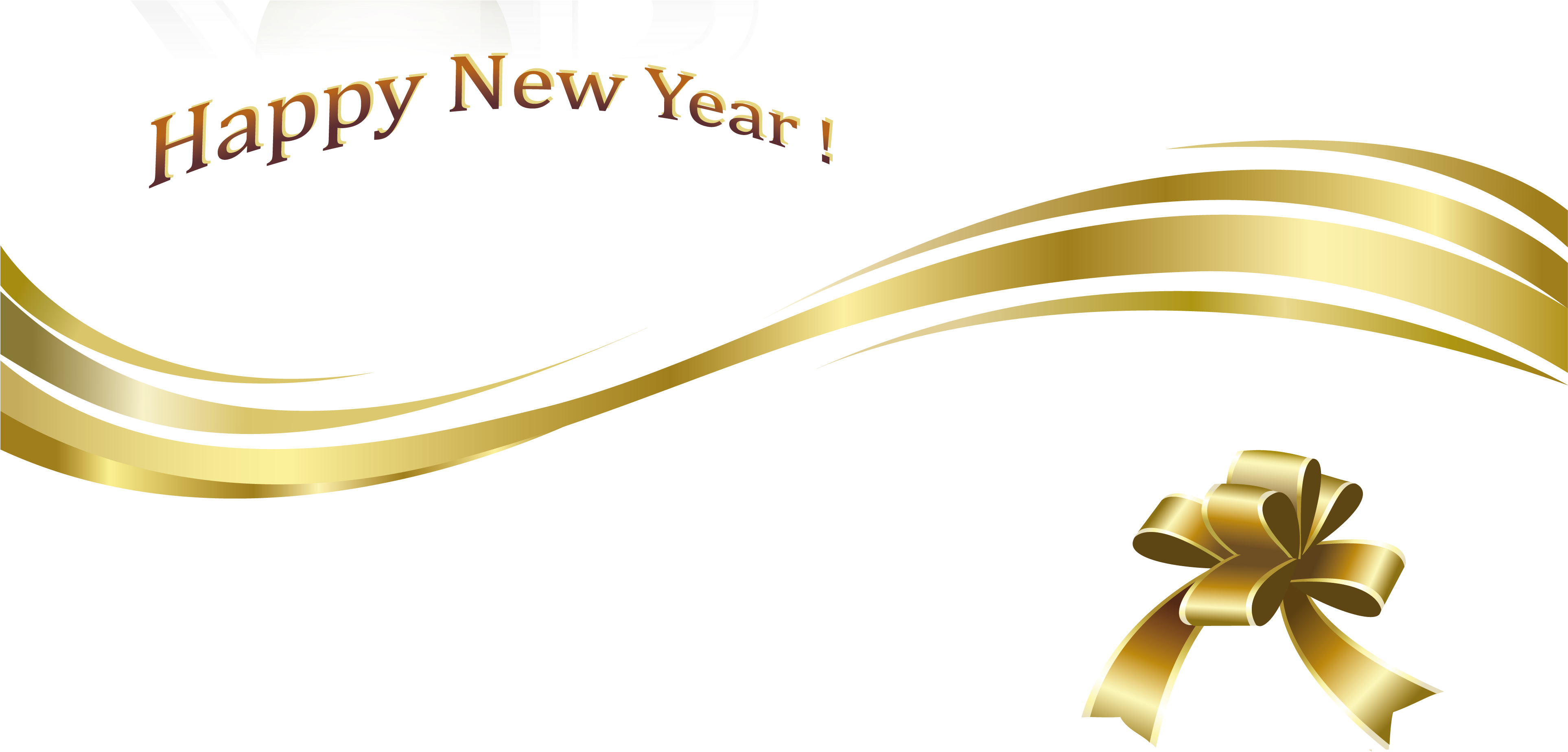 Gold New Year Png Images Happy Holidays Pictures - Happy New Year Png Text (3924x1974)