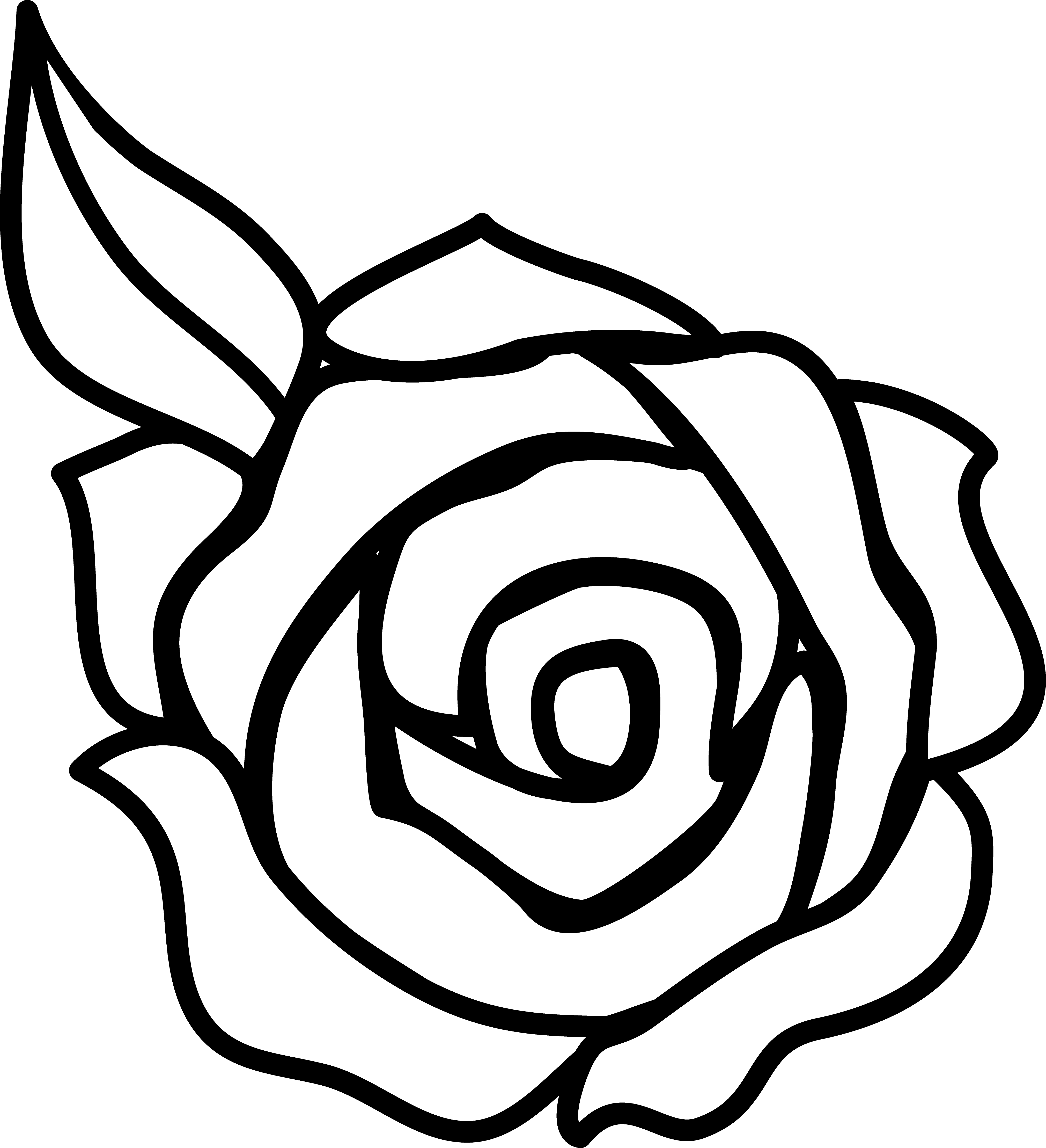 рисовать простые картинки черно белые парк