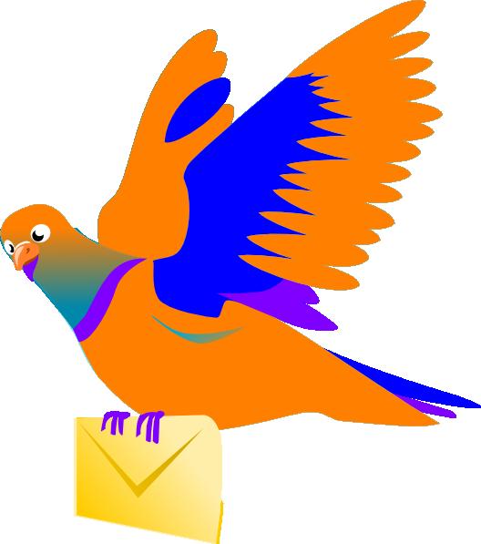 Email Message Bird Clip Art At Clker Com Vector Clip - Bird Message Png (528x597)