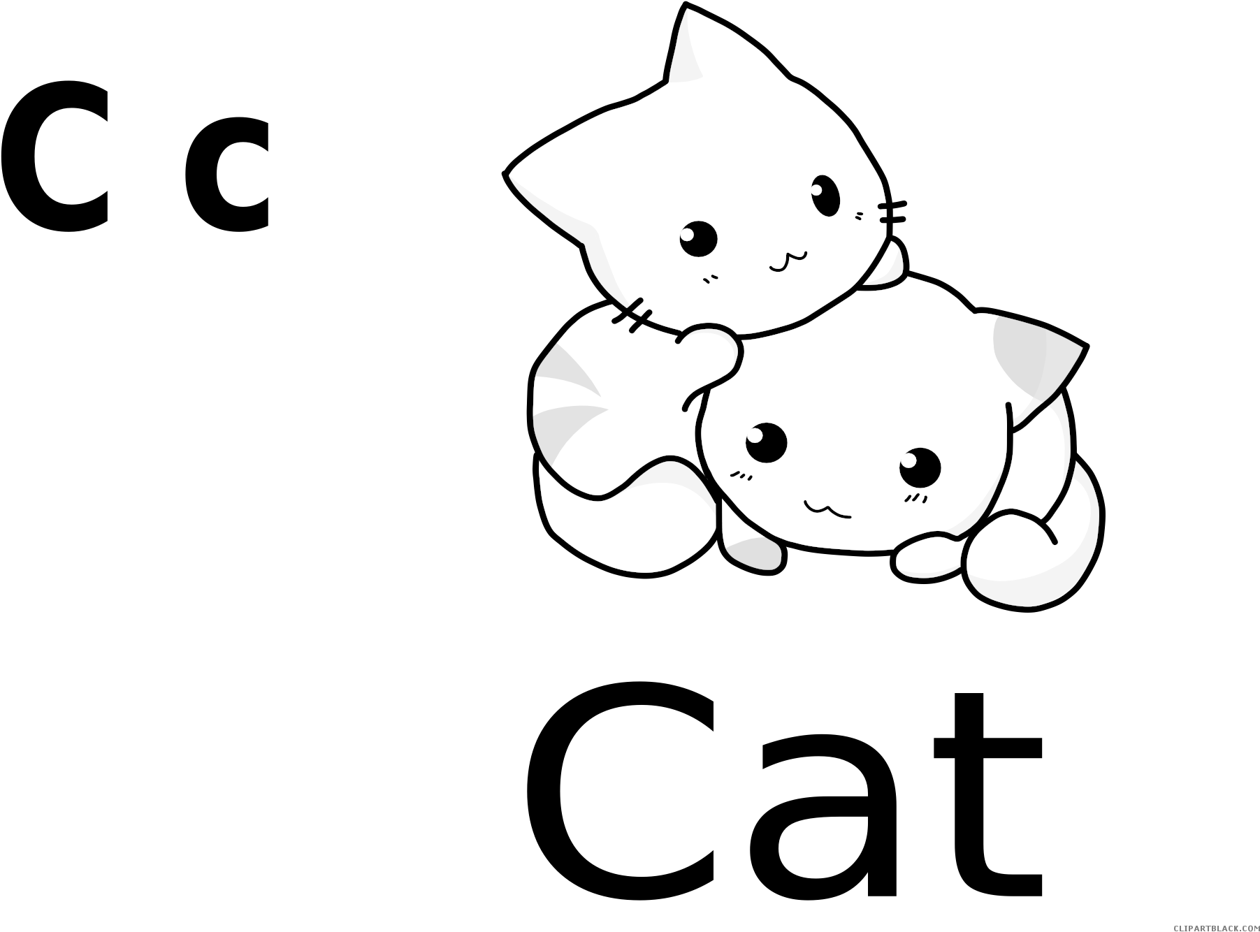 White Cat Animal Free Black White Clipart Images Clipartblack
