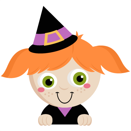 Peeking Witch Svg Scrapbook Title Svg Cutting Files - Cute Halloween Witch Png (432x432)