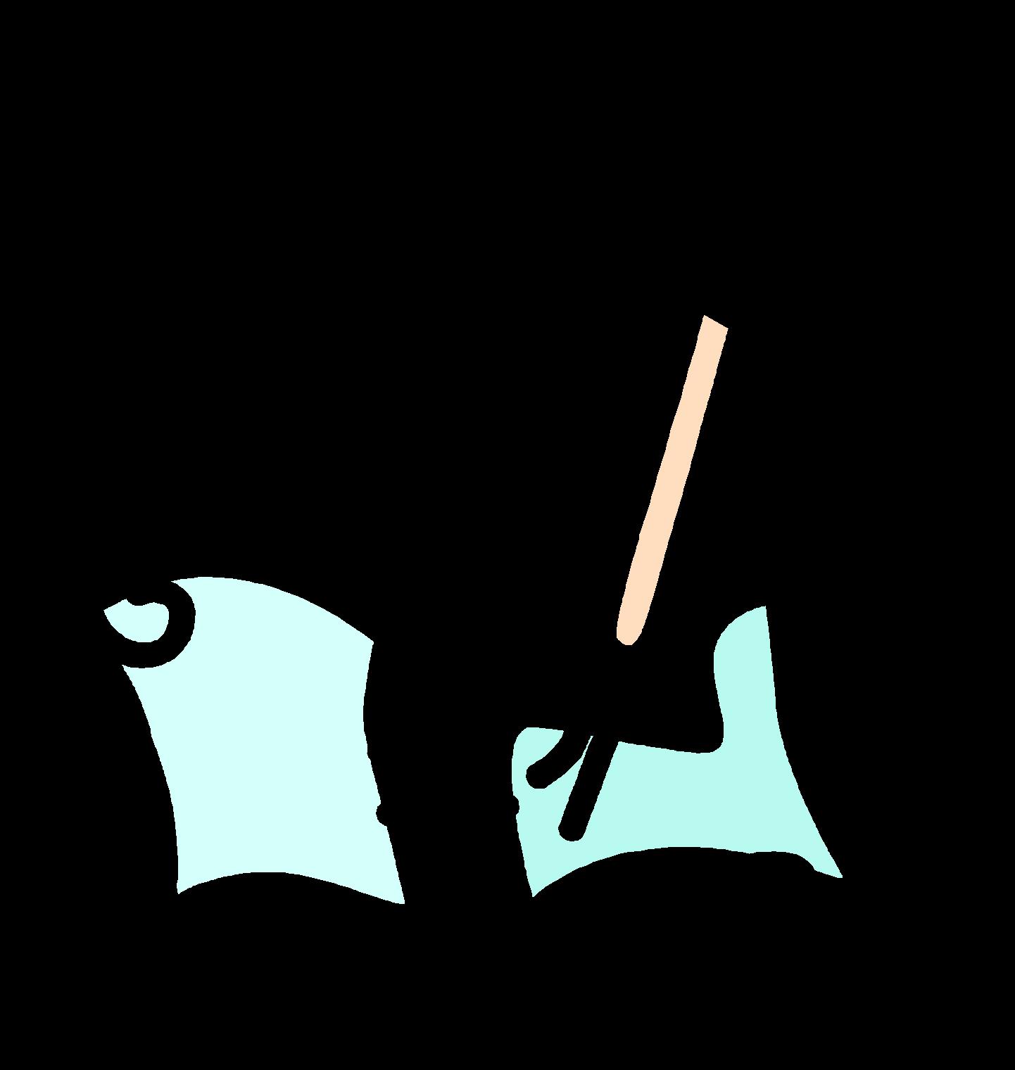 Анимация тетрадь с ручкой