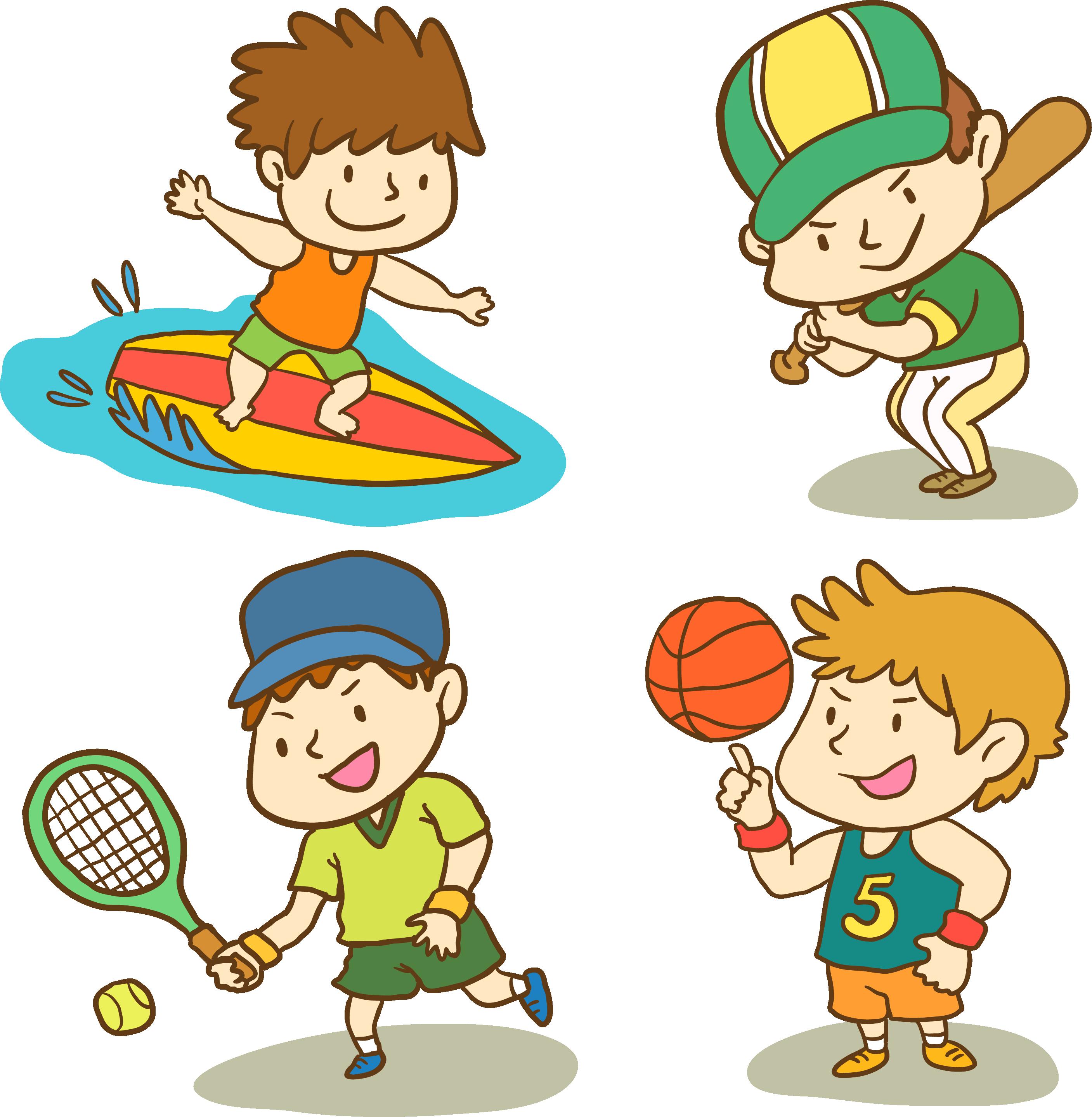 Мальчик занимается спортом картинка для детей