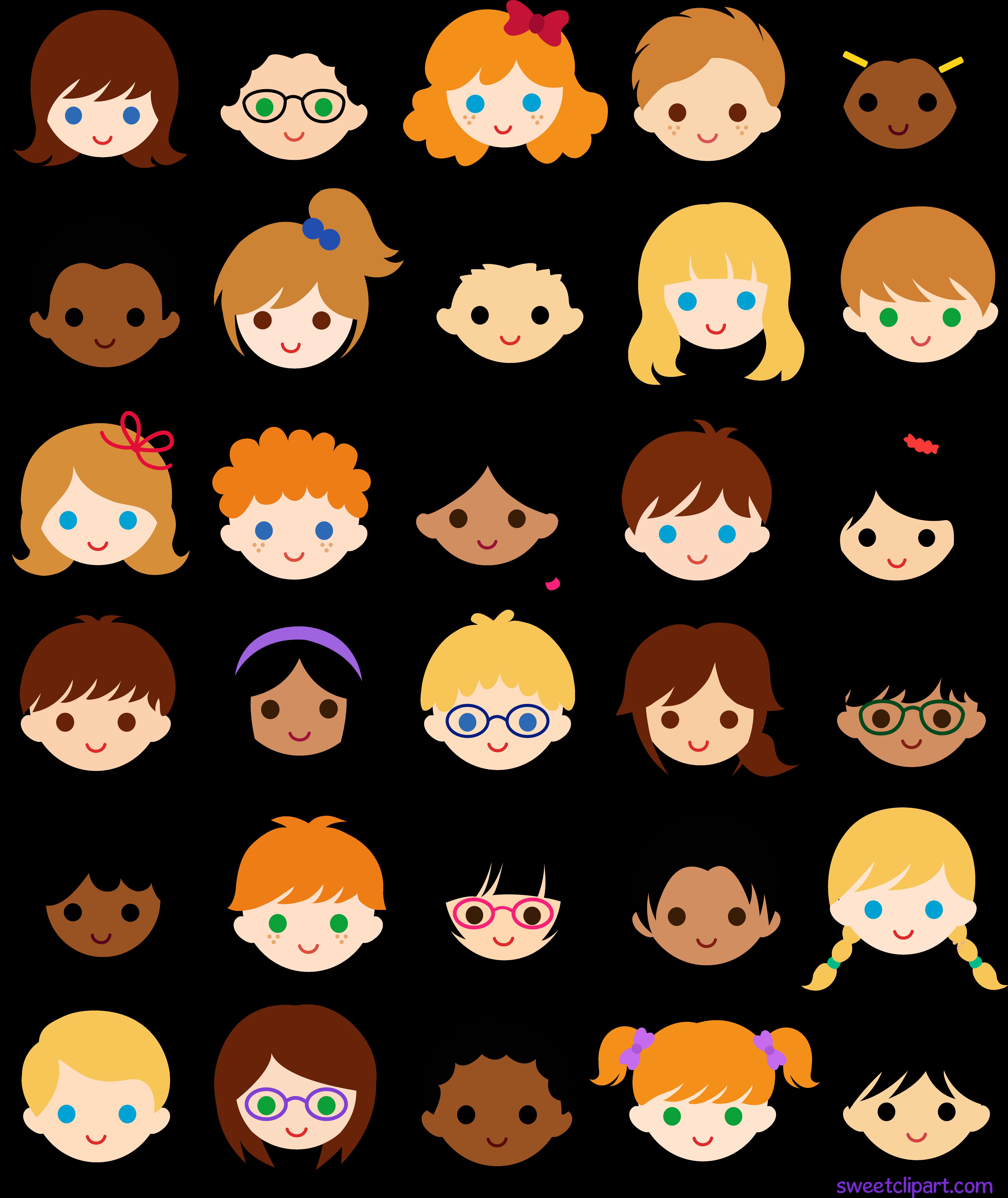 Лица детей нарисованные картинки