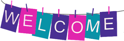 Welcome Banner Clipart (400x400)