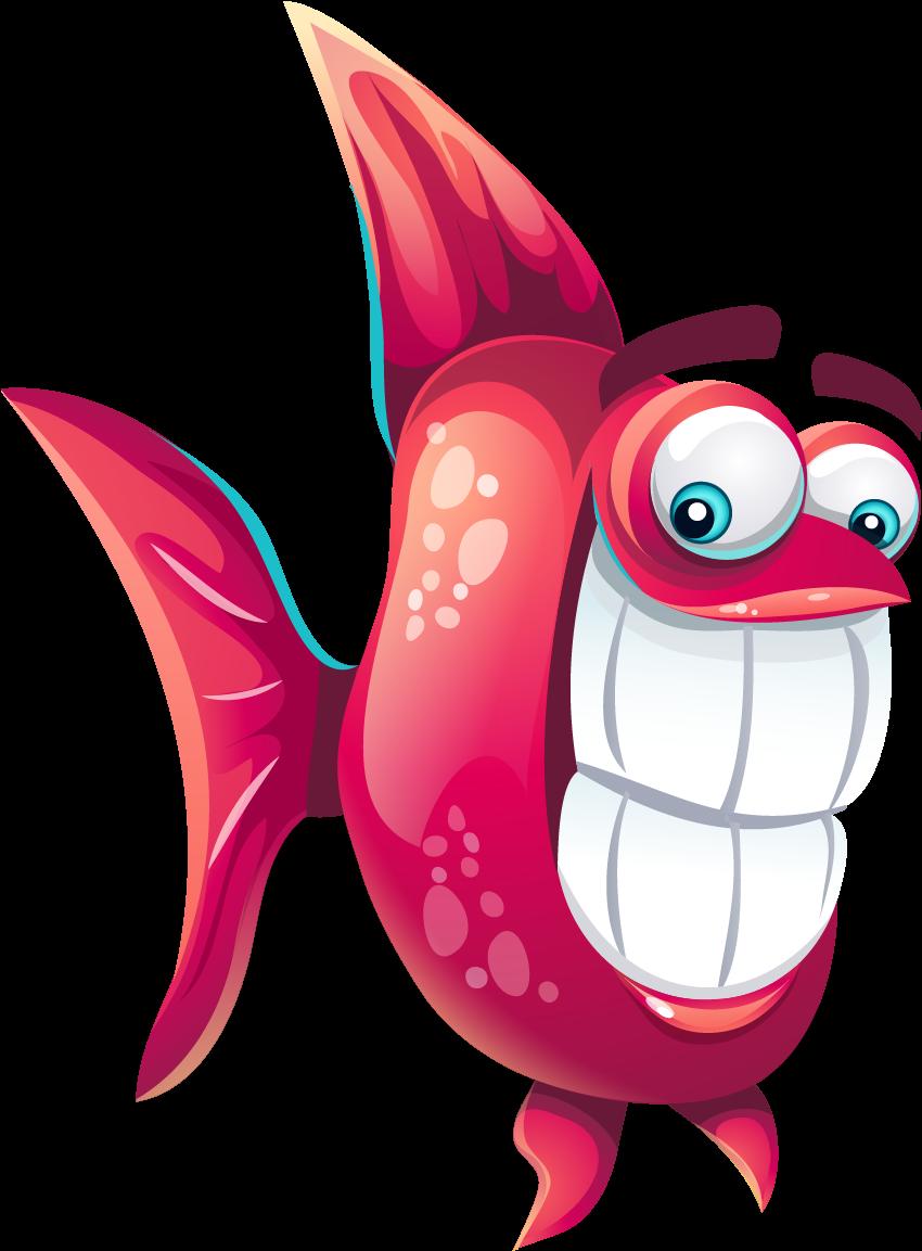 Рисунок рыба смешная