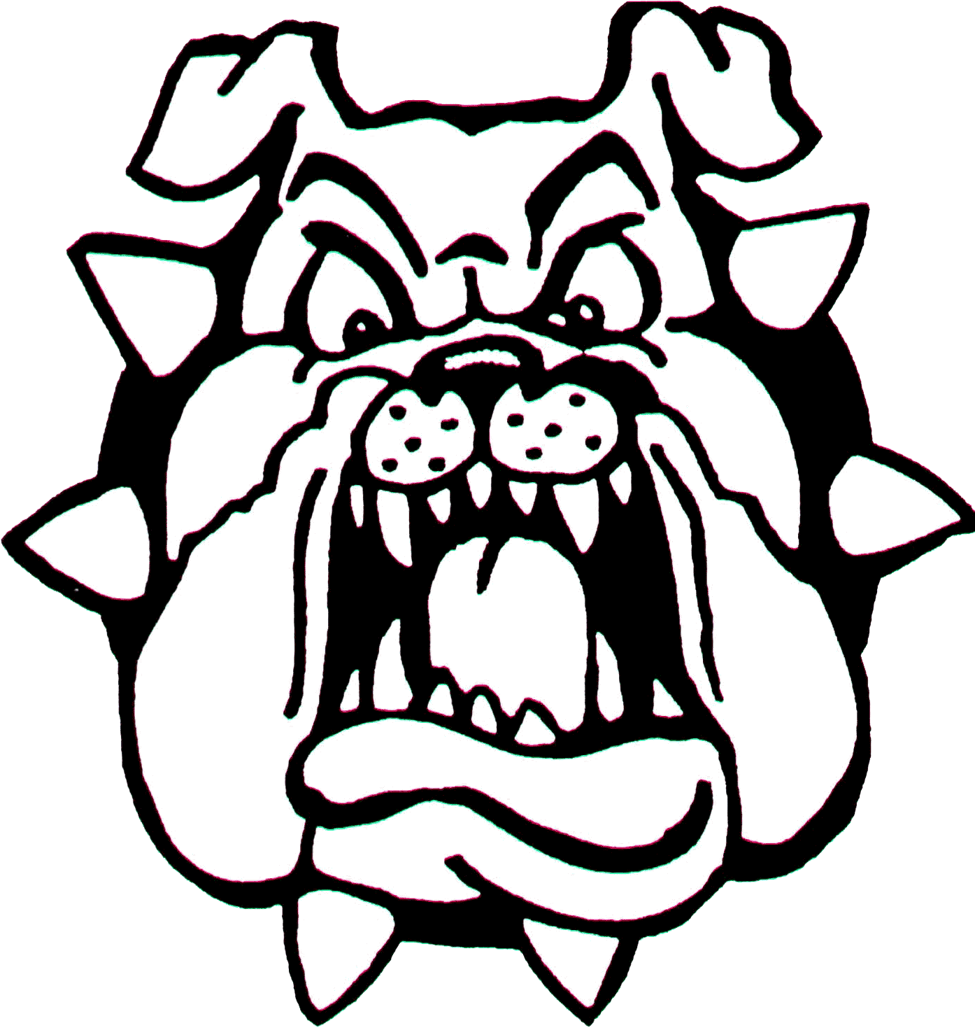 злая собака рисунок