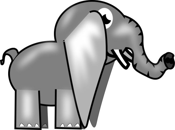 Elephant Png Images - Custom Baby Elephant Shower Curtain (600x446)