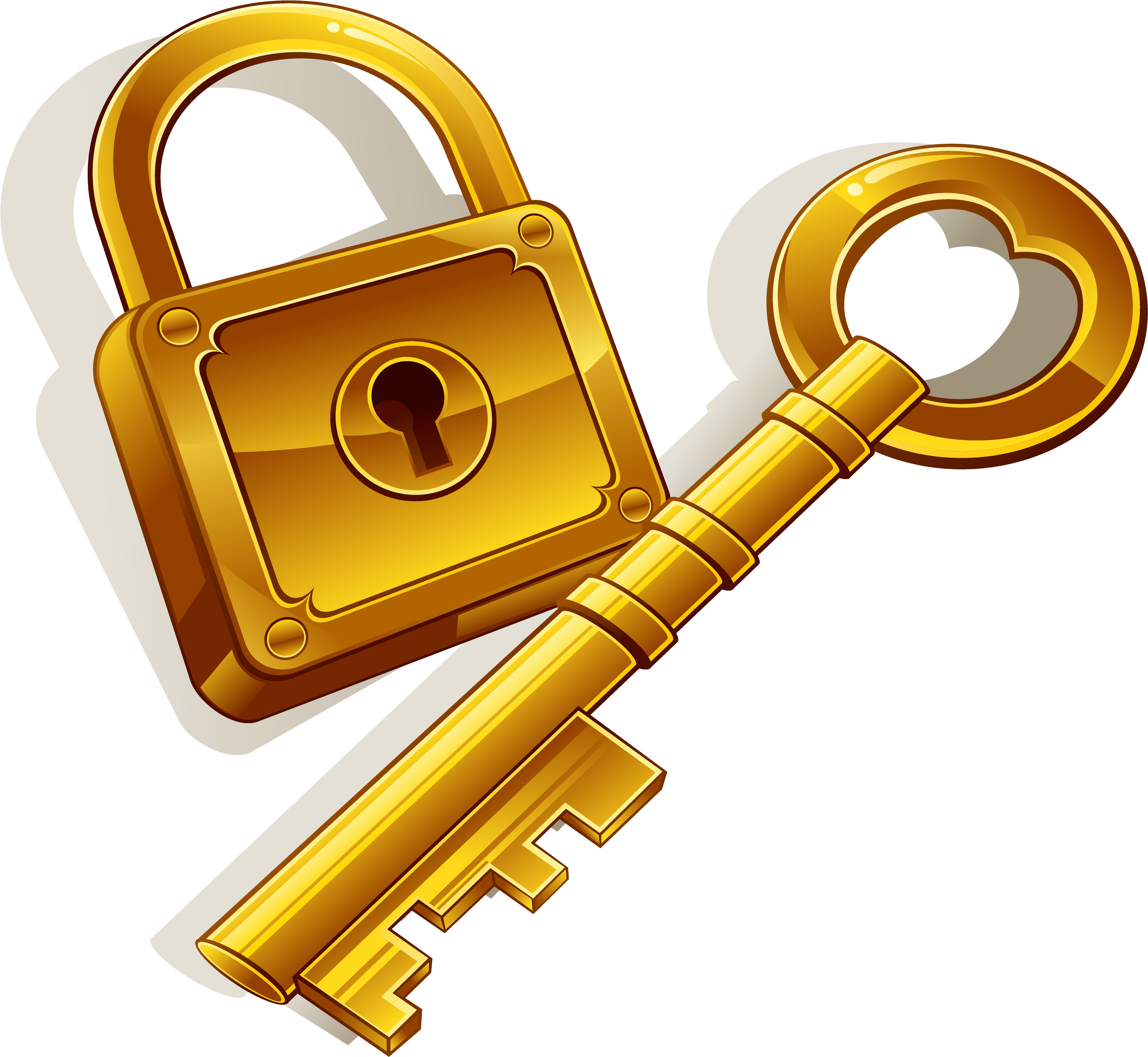 gold keyhole clipart - 900×840