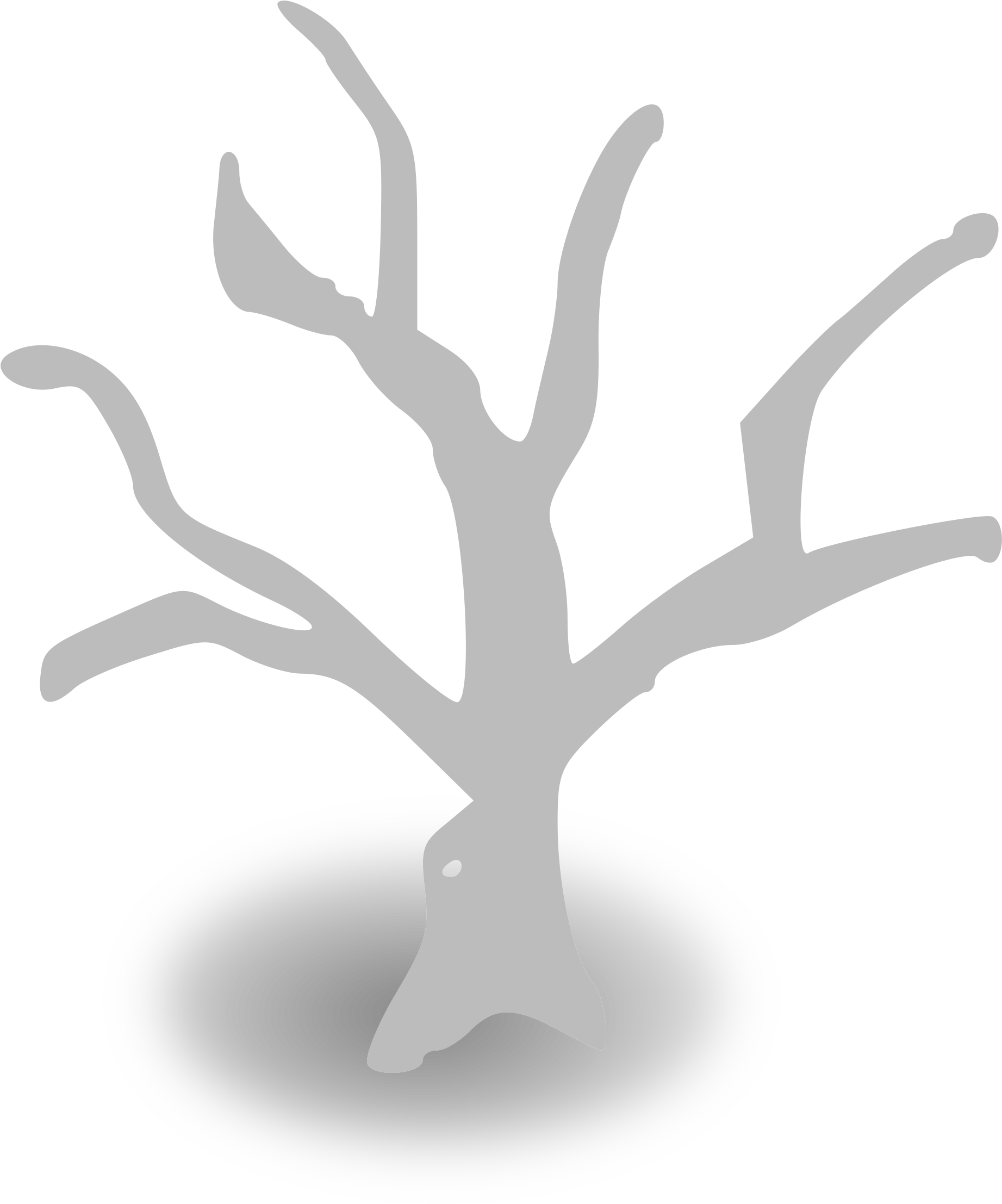 Dead Forest - Tree Trunk Clip (2400x2400)