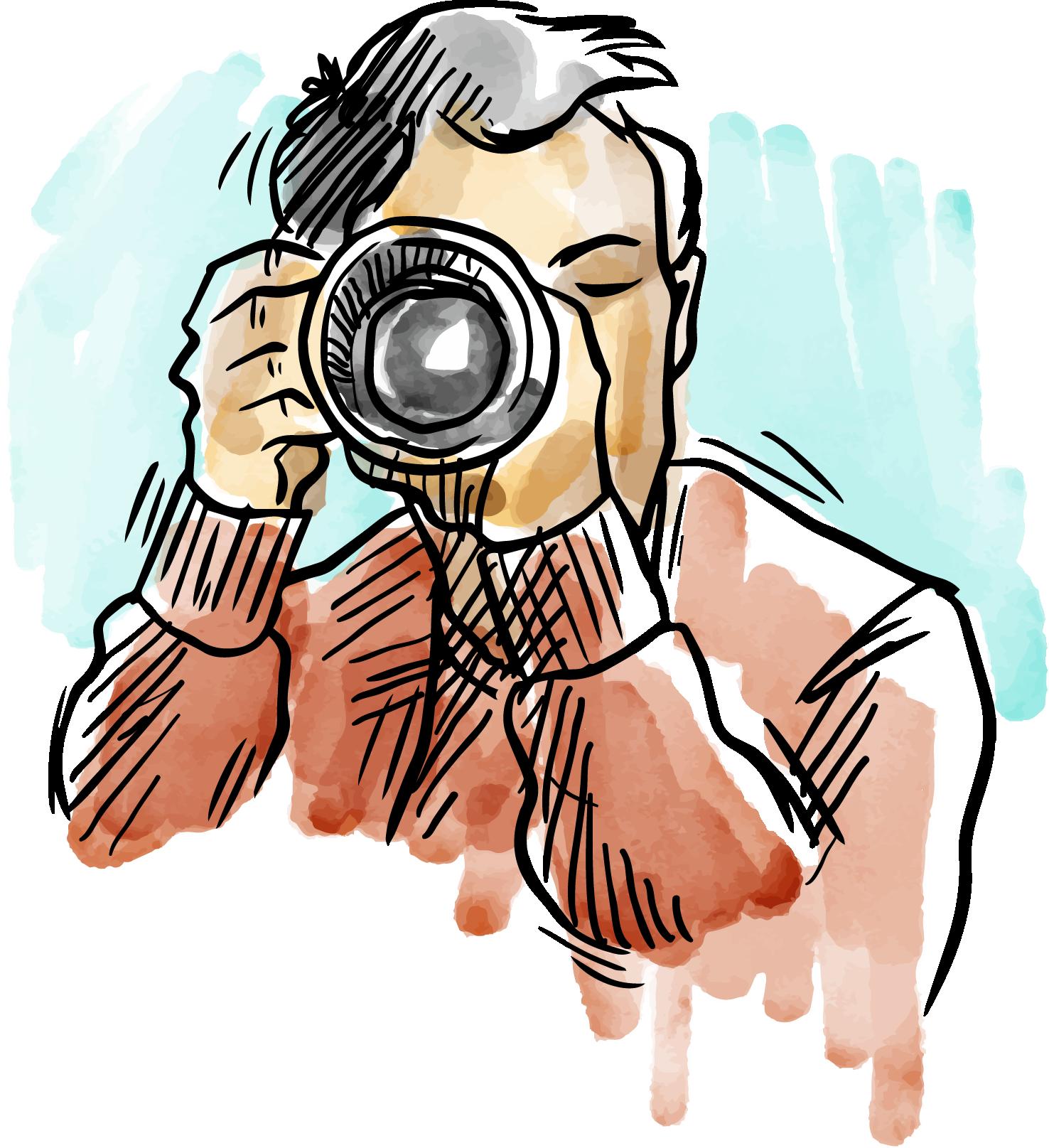 картинка мужчина с фотоаппаратом вектор этом