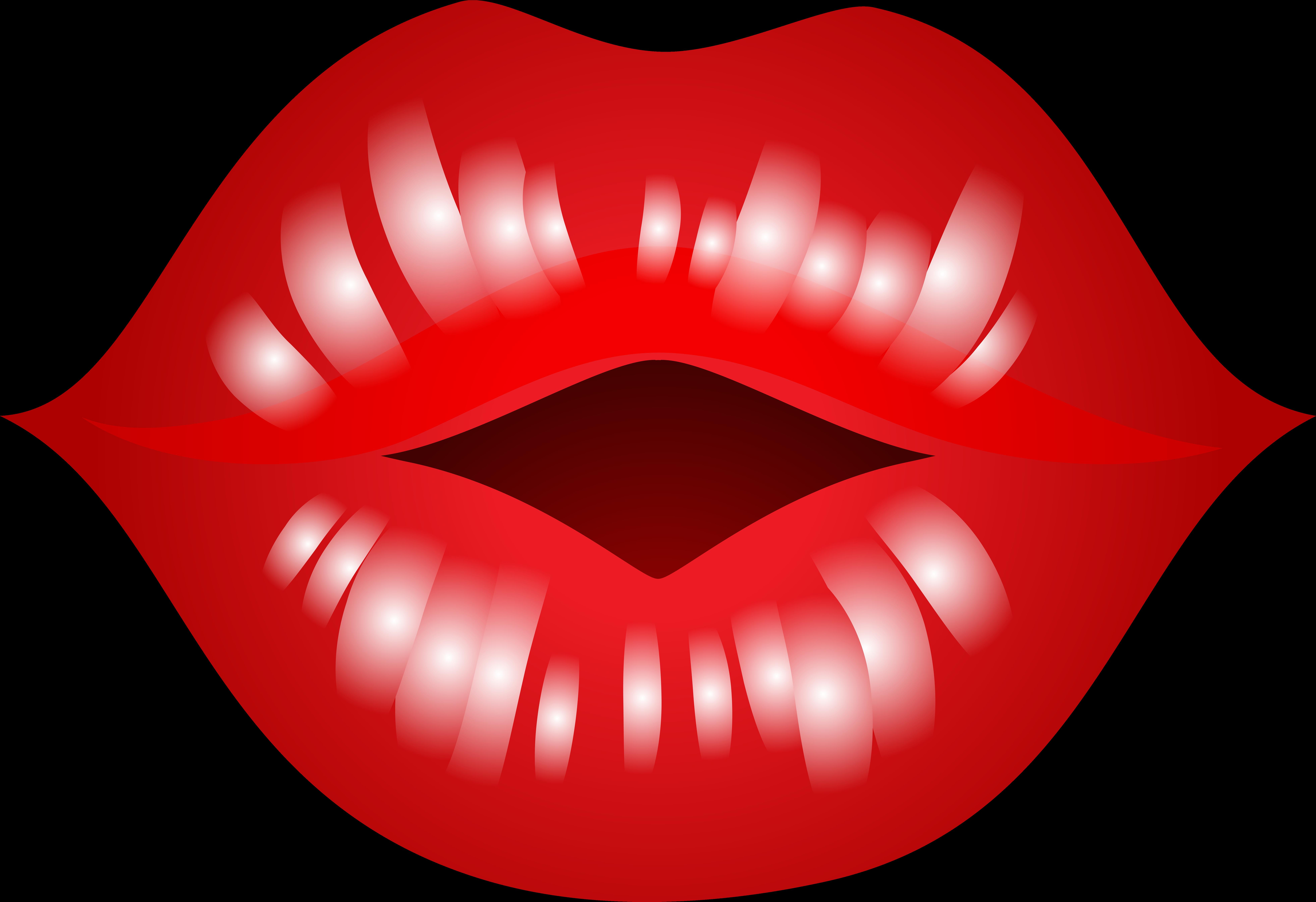 Открытки, картинки с губами поцелуями