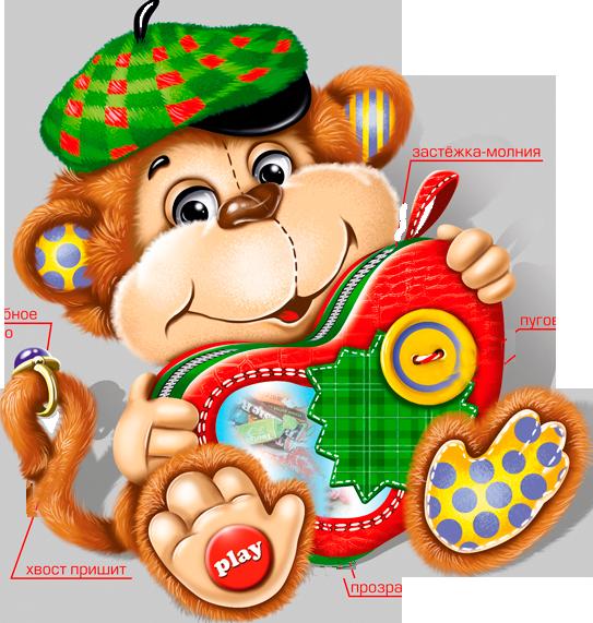 Новогодние открытка обезьянка