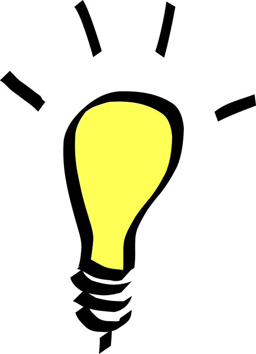 Light, Bulb, Yellow, Idea, Electricity, Epiphany, Think - Light Bulb Png (521x720)