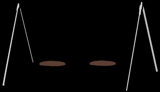 Swingset Clipart Black And White - Clip Art Swing Set (640x400)