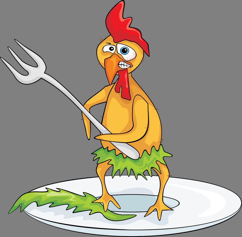Прикольная картинка на тему курицы