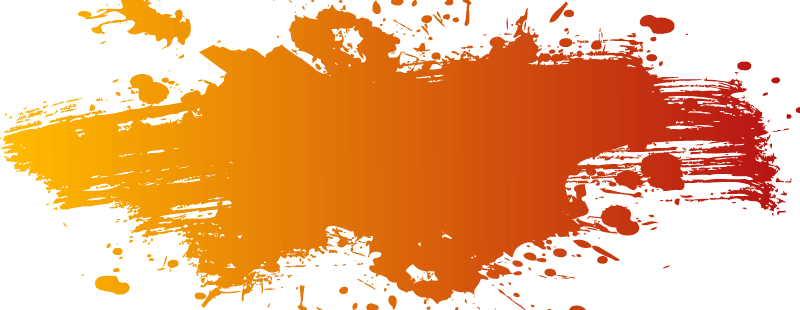 Orange Color Splash Png (800x310)