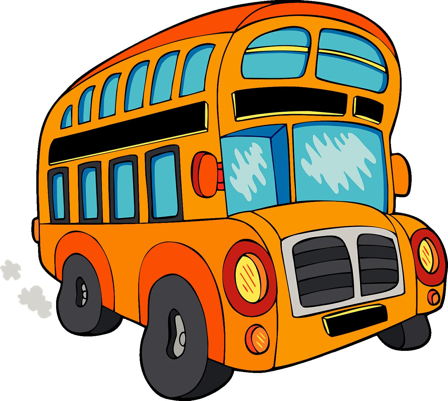 Картинка рисунок автобусов
