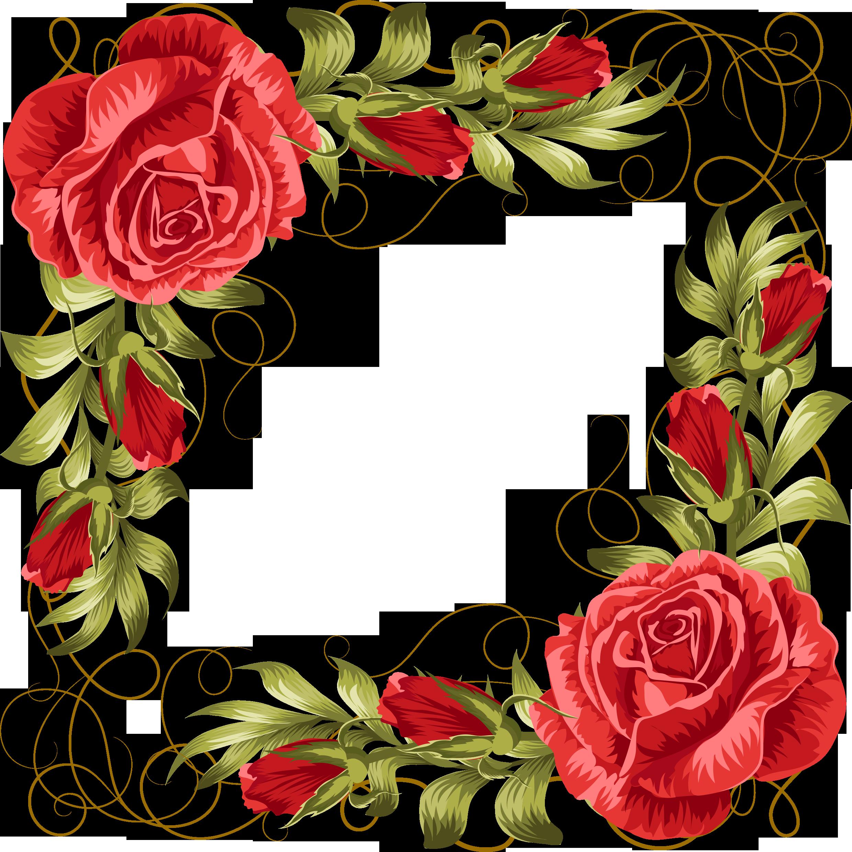 Овальная открытка с розами