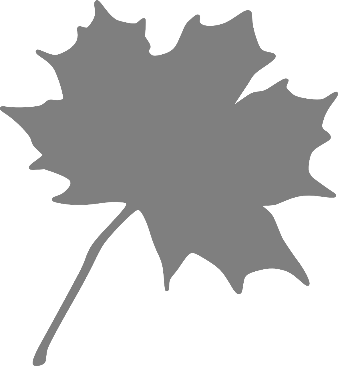 It is a graphic of Printable Leaf Stencils in maple leaf