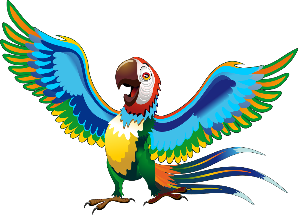 своих мультяшные картинки попугаев даже фоне