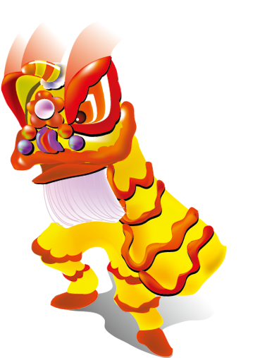 Lion Dance Icon - Happy New Year Card (512x512)