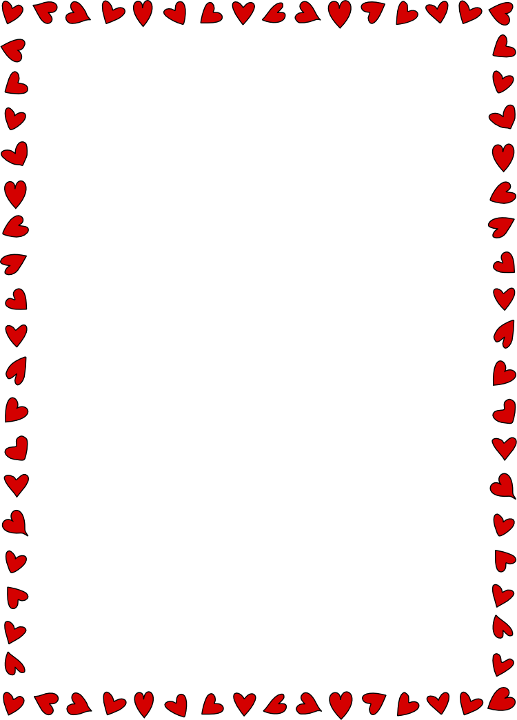 Valentine S Day Page Borders Clip Art For Kids Heart Border For