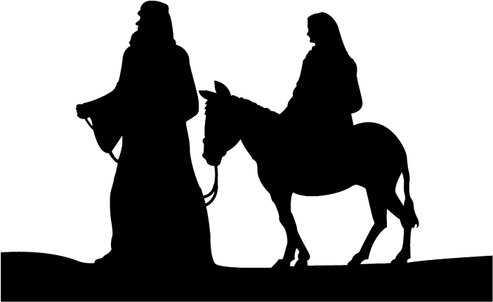Black And White Nativity Clip Art - Merry Christmas Religious Backgrounds (701x471)