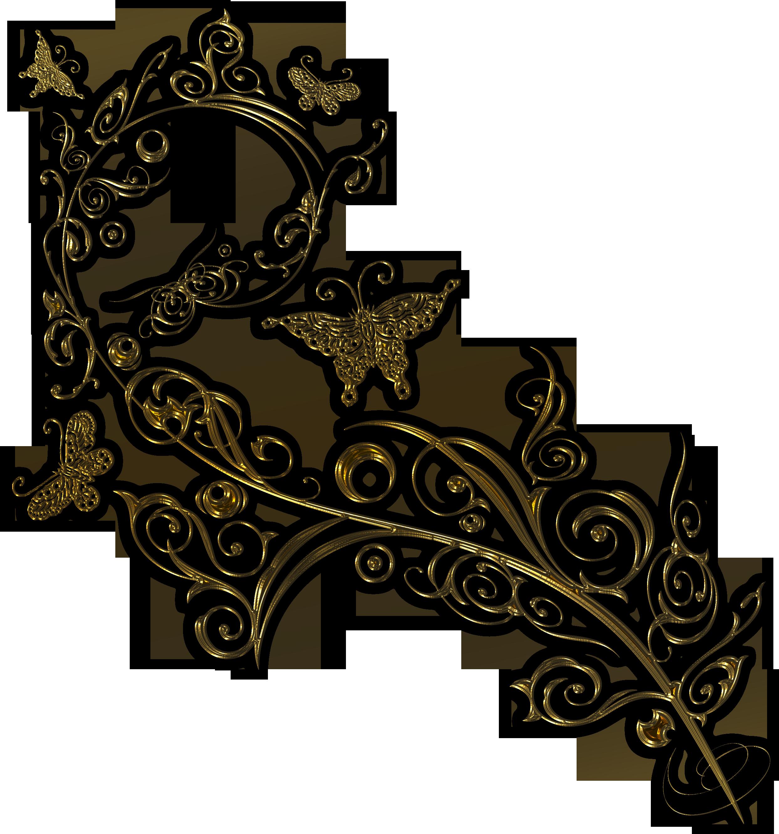 Картинки завитушек узоров бабочек
