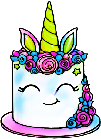 Report Abuse Draw So Cute Unicorn Cake Free Transparent Png