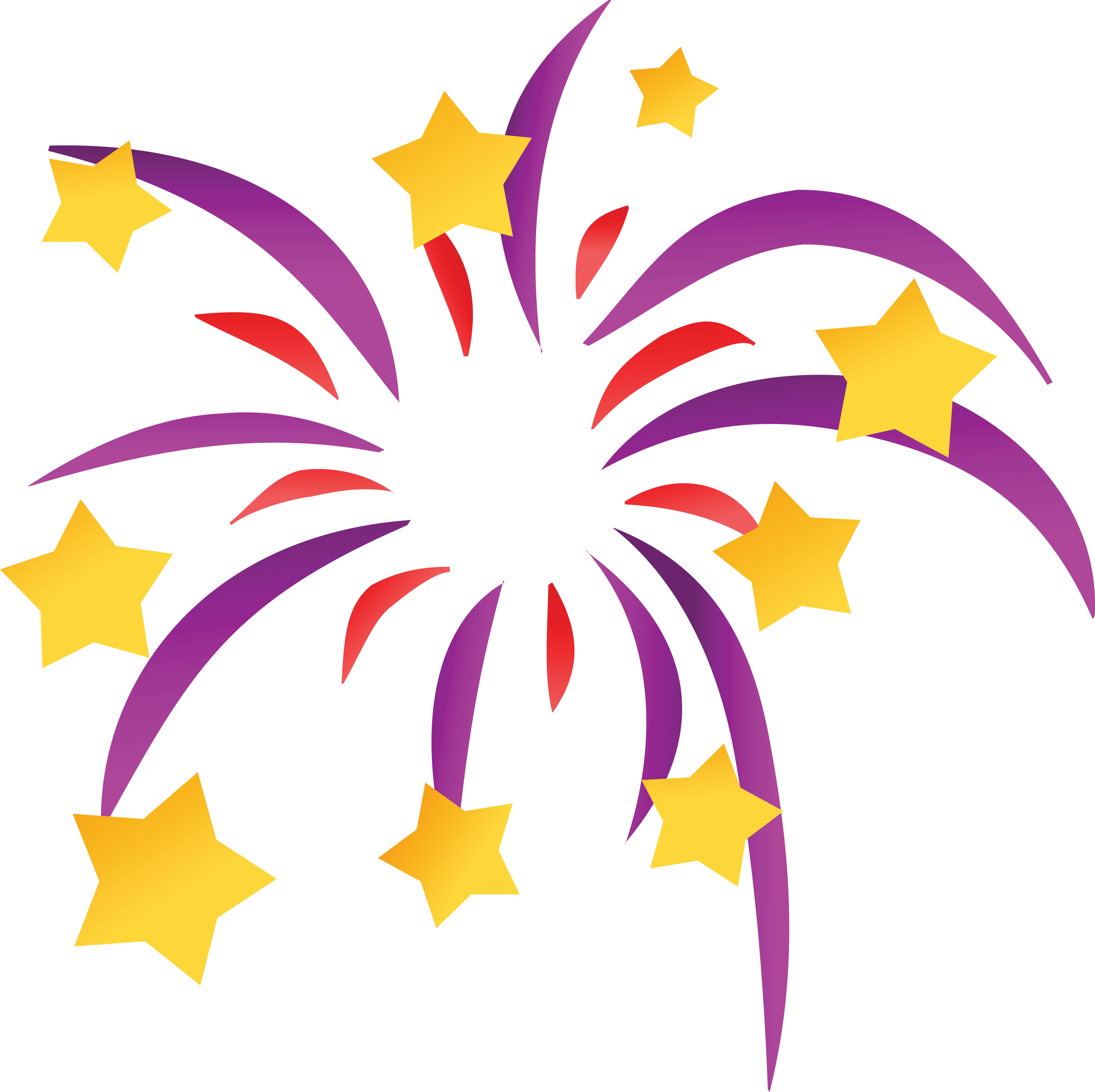 Free Clipart Of A Starry Firework - New Years Eve Icon (4000x3990)