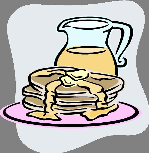Pancake Breakfast Clipart (578x594)