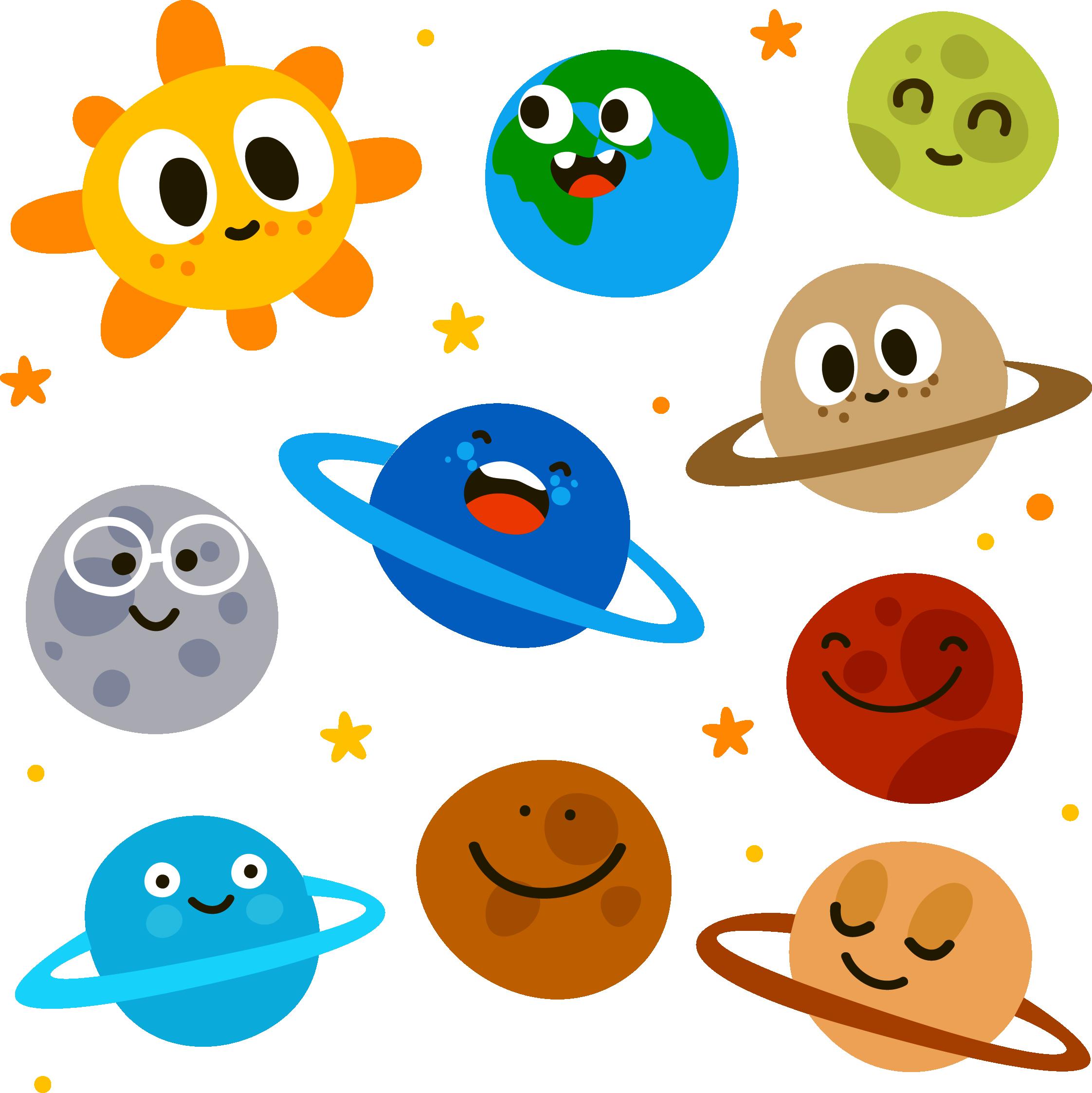 Смешные рисунки планет, для
