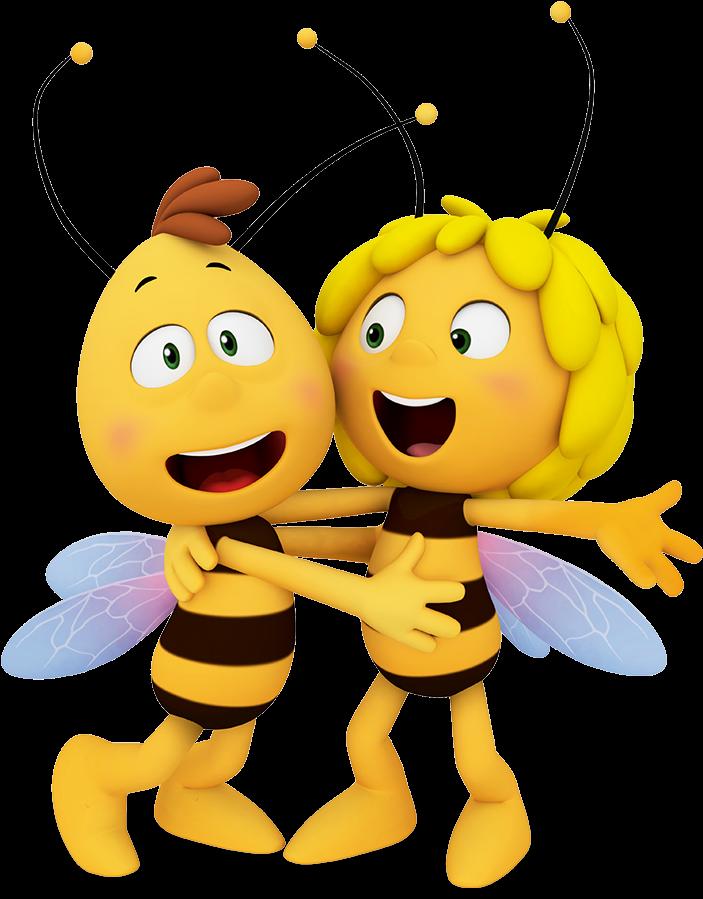 Акварелью пионы, пчелка майя открытки