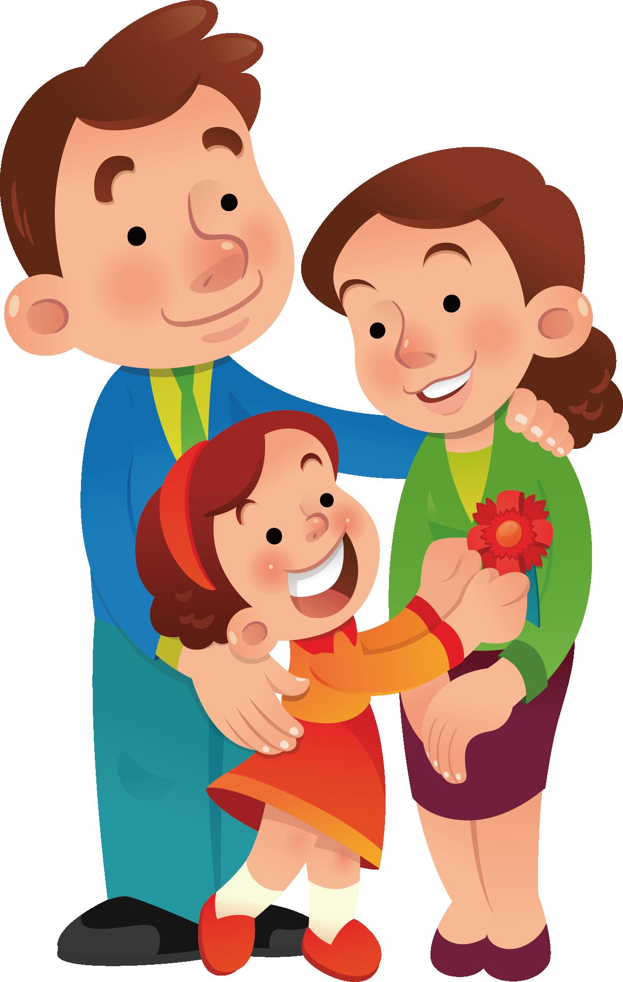 Папа с дочкой картинки для детей, юбилеем девушке