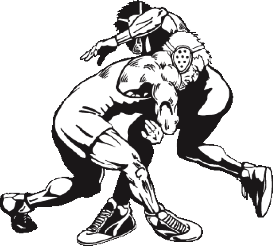 Wrestling Png Picture - High School Wrestling Clip Art (563x507)