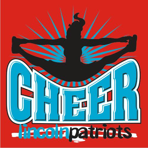 Cheer Designs And Graphics 112-dakota Lettering - Cheerleading T Shirt Design (500x500)