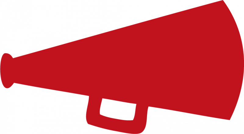 Cheer Megaphone Cheerleader Megaphone Clipart - Red Cheer Megaphone Clipart (800x440)