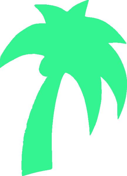 Palm Tree Green Mint Clip Art At Clker - Palm Tree Clip Art (432x595)