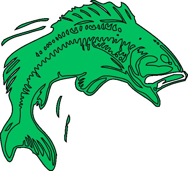 Bass Fish Clipart - Cartoon Bass Fish Png (600x546)